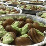 Assiette de 12 escargots en coquille au beurre ail-persil